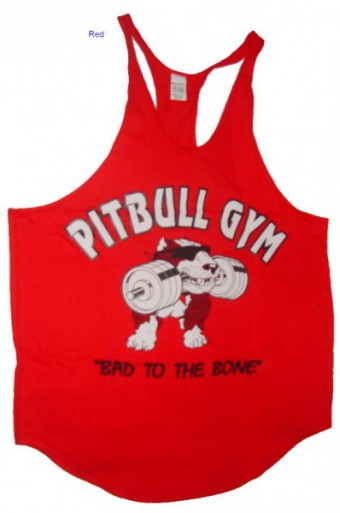 Tanktop Pitbull Gym Red (USA)