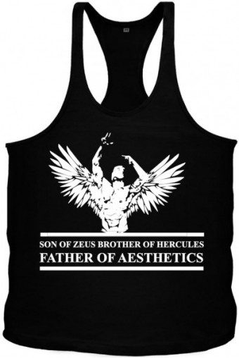 Angel Zyzz singlet Black/White