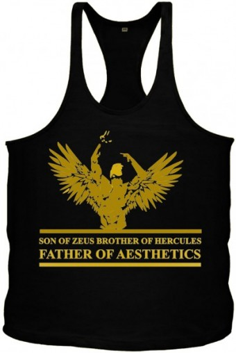 Angel Zyzz singlet Black/Gold