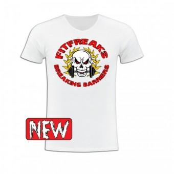 Slimfit T shirt Fitfreaks logo White