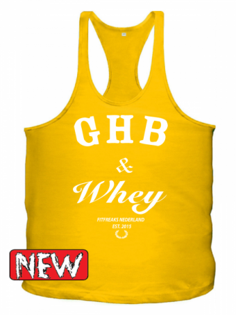 GHB yellow/white singlet