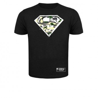 Slimfit T shirt  camo Superman blood black/white