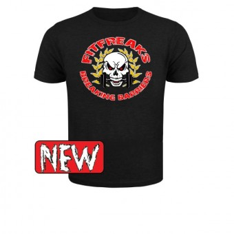 Slimfit T shirt Fitfreaks logo Black
