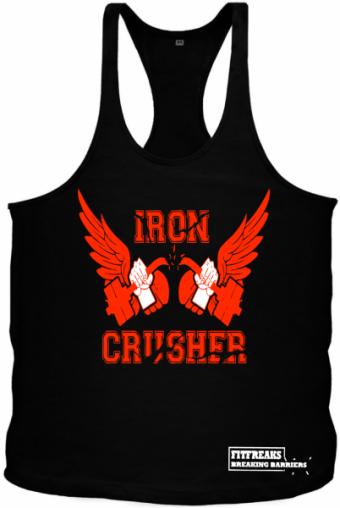 Iron Crusher Tanktop Black/Orange