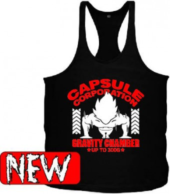 Tanktop Vegeta capsule Red/Black