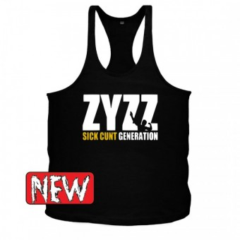 Zyzz generation Black/white singlet