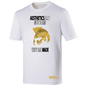 Aesthetics poly shirt White