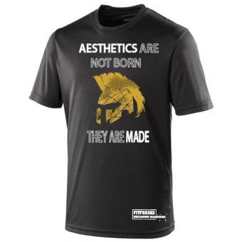 Aesthetics poly shirt black