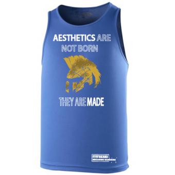 Aesthetics  poly hemd blue