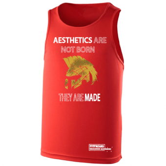 Aesthetics  poly hemd Red