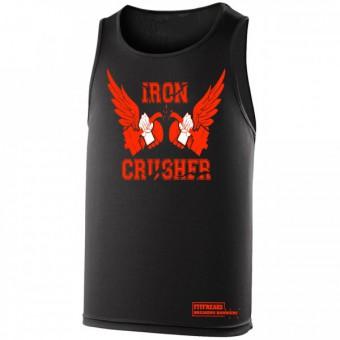 Iron Crusher poly hemd Black/Orange