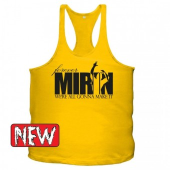 Forever mirin singlet Yellow/black