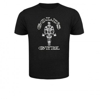 slimfit T shirt Gold's men Black/White