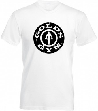Slimfit T shirt  Gold's gym round vintage White/black