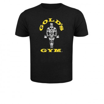 Slimfit T shirt Golds men Black/Yellow