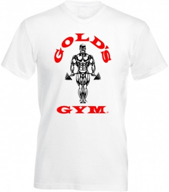Slimfit T shirt Golds men White/Red
