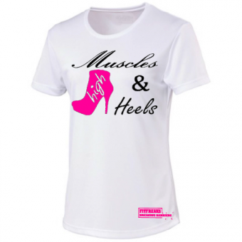 Muscles & High Heels  White