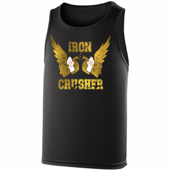 Iron Crusher poly hemd Black/gold