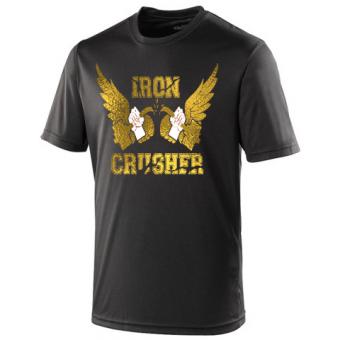 Iron Crusher shirt poly  Black/Gold
