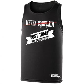 Never Complain Just Train hemd Black