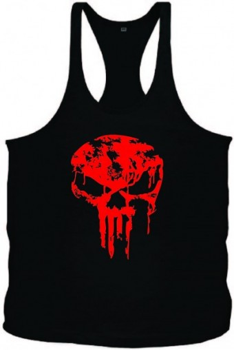 Tanktop SKull Red dripped