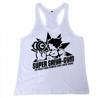 Super saiya gym Tanktop White
