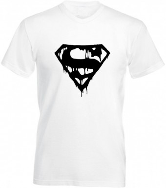 Slimfit T shirt  Superman blood White/Black