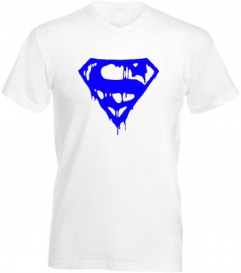 Slimfit T shirt  Superman blood White/Blue