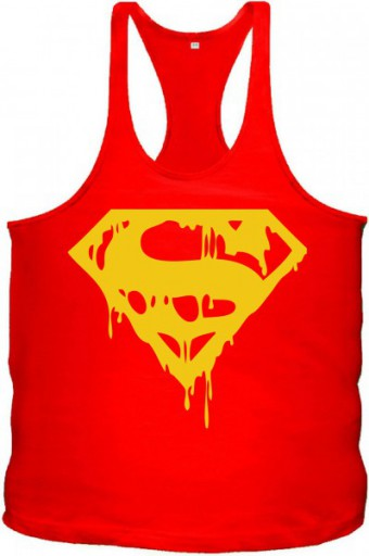 Tanktop Superman Blood Red/Yellow