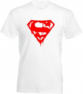 Slimfit T shirt  Superman blood White/Red