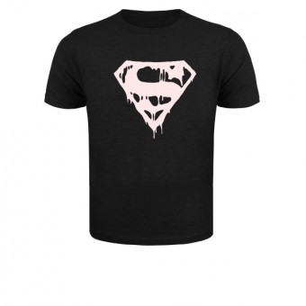 Slimfit T shirt  Superman blood black/White