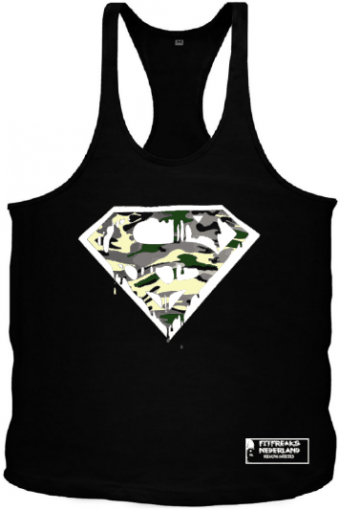 Tanktop camo superman blood Black