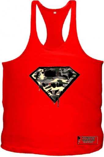 Tanktop camo superman blood Red
