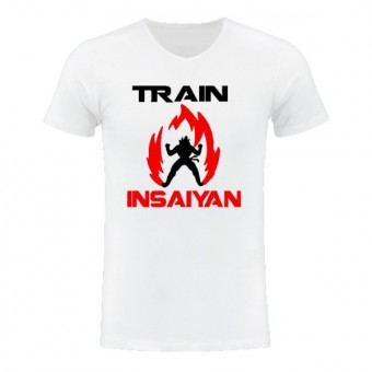 Slimfit T shirt Train in saiyan White