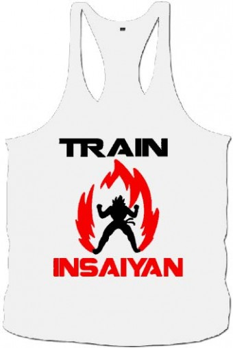 Tanktop train saiyan white