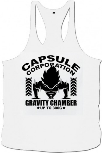 Tanktop Vegeta capsule white/black