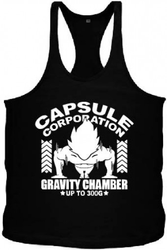 Tanktop Vegeta capsule black/white